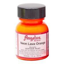 Angelus Acrylic Leather Paint Water Resistant Neon lava orange - 1 Fl.Oz
