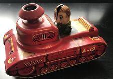 KO Japan Tin Litho Toy Tank Dozer Friction Works