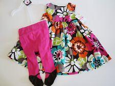 Carter's Dress & Tights Size 24 Months Sleeveless Summer Floral NEW