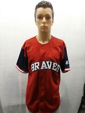 Vintage Atlanta Braves Starter Red Jersey MLB M