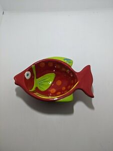 Pier 1 Pier One Imports Fish Shaped Dish Condiment Snack Candy Small Dip Bowl B