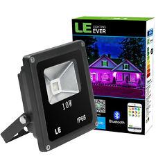 Smart Bluetooth Rgb Led Flood Lights Dimmable Waterproof 10W Phone App Control