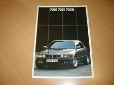 CATALOGUE BMW série 7 de 1987 en hollandais