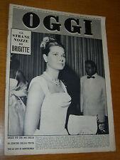 OGGI 1960/33=GRACE KELLY=MARIA CALLAS=DELITTO CASTEGGIO=MARINO GUARGUAGLINI=