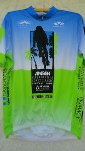 Voler Cycle Jersey Men's XL Poly Green Blue Black White California Classic MINT