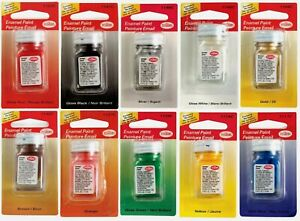 TESTORS ENAMEL PAINT Multi Purpose & Surface Craft Hobby 1/4 oz ~PICK COLOR~ New