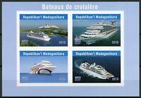 Madagascar 2019 MNH Cruise Ships 4v IMPF M/S Bateaux Boats Nautical Stamps