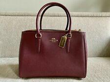 COACH BAG LEATHER Large SURREY CARRYALL / WINE MSRP: $429.00 NWT F44955