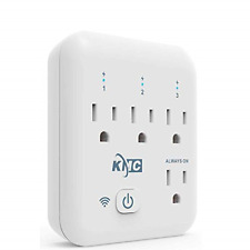 KMC 4 Outlet WiFi Smart Plug Energy Monitoring Smart Outlet, Remote Control Wall