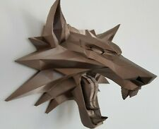 The Witcher Wolf Medallion Wall Art Decoration Hanging 3D Printed
