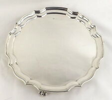 Waiter Salver Tray Ball and Claw Solid Sterling Silver Bishton's 1968