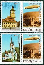 2004 Zeppelin LZ 127 over Brasov 1929,Black Church,Romania,Mi.5849,TAB x2/L,MNH
