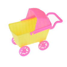 Mini Doll Shopping Cart Trolley Doll House Furniture Kid Toy For Barbie New.