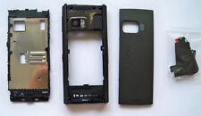 Black cover case faceplate fascia facia housing faceplate for Nokia X6