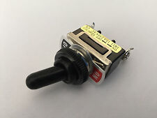 2 x 15A/250VAC On/Off SPST 2 Screw Terminals Toggle Switch with Black Waterproof
