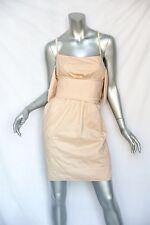STELLA MCCARTNEY Nude Cotton+SILK Spaghetti Strap Dress Architectural Details S