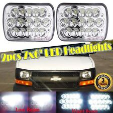 """Square Pair 7×6"""" LED Headlights High Low Beam for Ford E250 Cargo Van 1992-2014"""