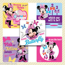 Minnie Mouse Bow-Tique Stickers x 5 - Birthday Party Favours - Mickey Minnie