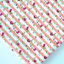 VERANO RAYA FLORAL - APRICOT NARANJA - 100% tela de algodón por metro
