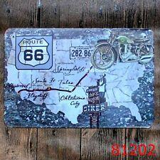 Metal Tin Sign route 66 map america Bar Pub Vintage Retro Poster Cafe ART