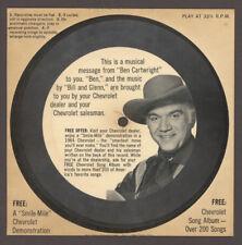 CHEVROLET 1964 Auto Promo with BEN CARTWRIGHT Bonanza Pop Rock Flexi Record VTG