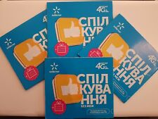Simcard Kievstar Ukraine 4GAKTIVATED where you want 30 min call for Germany free