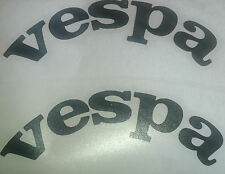 unique curved wheel arch leg shield vespa vinyl graphics, decals, stickers 100mm