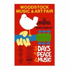 Woodstock Tapestry Fabric Poster Flag Cloth Wall Banner