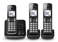 Panasonic Triple Cordless Phone System with Answering Machine KX-TGD323ALB