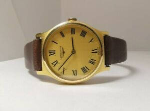 Ladies Longines L817.4 Roman dial Gold plated manual winding watch