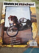 Bmx rider magazine November 2002 issue 4 mid school bmx.