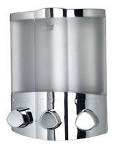 Croydex Euro Trio Distributeur Savon Shampooing Gel flacon pompe chrome