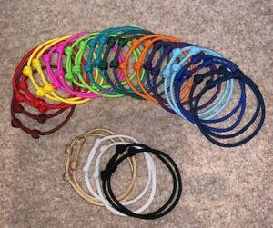 Paracord Bracelet * Choose Colour * 2x Adjustable Thong * Survival Prep Hiking