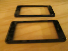 Black Pickup Mounting Rings (Flat Non Graduated Height) 2 piece