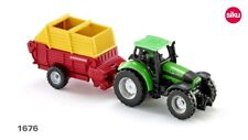 SIKU (1676) 1:87 Scale Deutz Fahr Agrotron Tractor & Pottinger Loader Wagon - BA