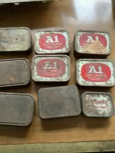 Collection Of 9 Vintage Tins A1 Tobacco Strepsils