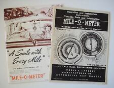 Mile-O-Meter Manual and Advertising Magazine from 1950's - Gale Hall Engineering