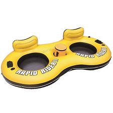 Rapid Rider II Tube Inflatable 2 Person Float River Raft Run w/ Beverage Cooler