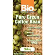 Bio Nutrition Pure Green Coffee Bean 800mg - 50 Capsules (50% chlorogenic acid)