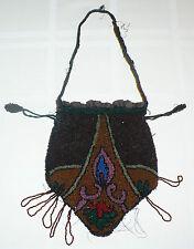 ANTIQUE 1930's BEAUTIFULLY BEADED PURSE RETICULE BAG * 8 COLORS *  ART DECO