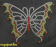 Transfert en strass thermocollant hotfix papillon applique DIY rhinestone