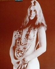 "Janis Joplin Poster Print - Nude with Beads Photo - 11""x14"" Sepia"
