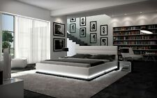 Complete Bed Moonlight with Light + 7 Zones Mattress + Slatted Frame
