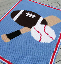 SPORTS BALLS  Color Graph Afghan CROCHET Pattern