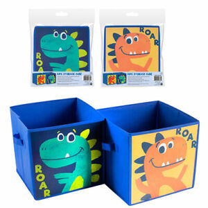 Kids Dinosaur Foldable Storage Cube Organiser Space Saver Home Tidy Box Set of 2