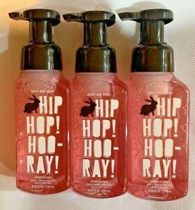 3 Bath & Body Works HIP HOP HOORAY Gentle Foaming Hand Soap 8.75 fl oz EASTER