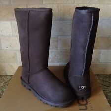 UGG Classic Tall Essential Chocolate Brown Suede Wool Boots Size US 7 Womens