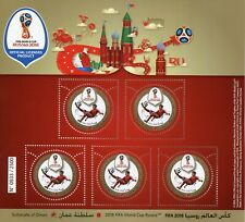 Oman 2018 MNH FIFA World Cup Football Russia 2018 5v M/S Soccer Sports Stamps