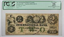 1858 Canada $2 Banknote PCGS VF-25 September 15 Toronto,ON Charlton 380-10-06-12