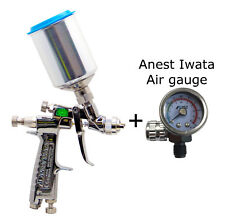 ANEST IWATA LPH-80-124G 1.2mm Spray Gun with Cup PCG-2D-1 Air gauge LPH80 124G